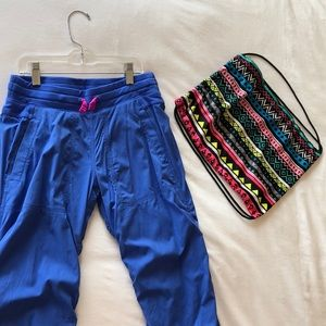 Ivivva Live to Move pants and cinch bag